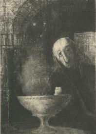 Et le chercheur était à la RECHERCHE INFINIE (Odilon Redon, 1886)