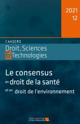 Cahiers Droit, Sciences et Technologies